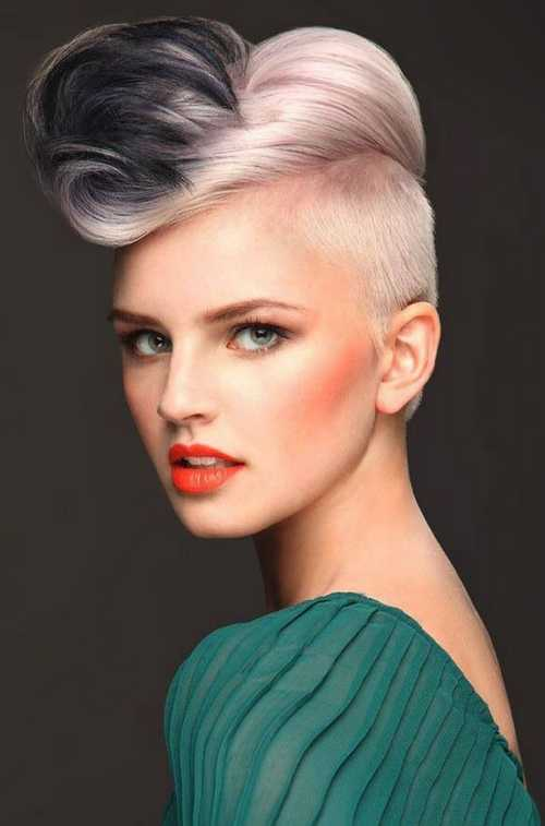 Undercut-stylish-short-haircuts-with-hair-color-and-Cool-female-makeup