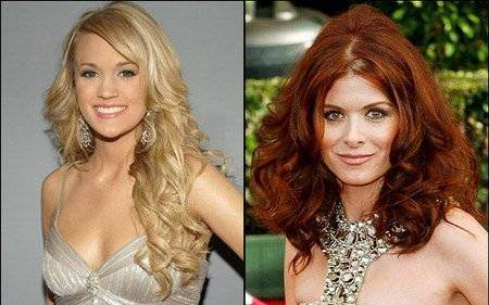 tunsori par ondulat carrie underwood si debra messing