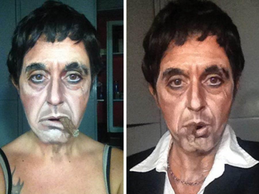 Acest makeup artist se poate transforma in oricine